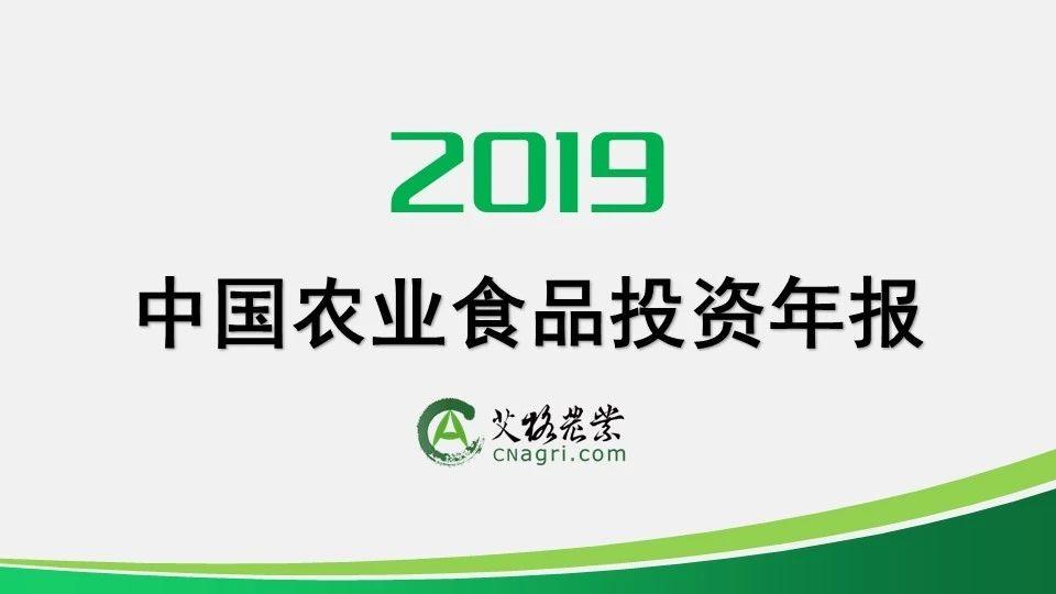 报告|2019年中国农业食品投资年报
